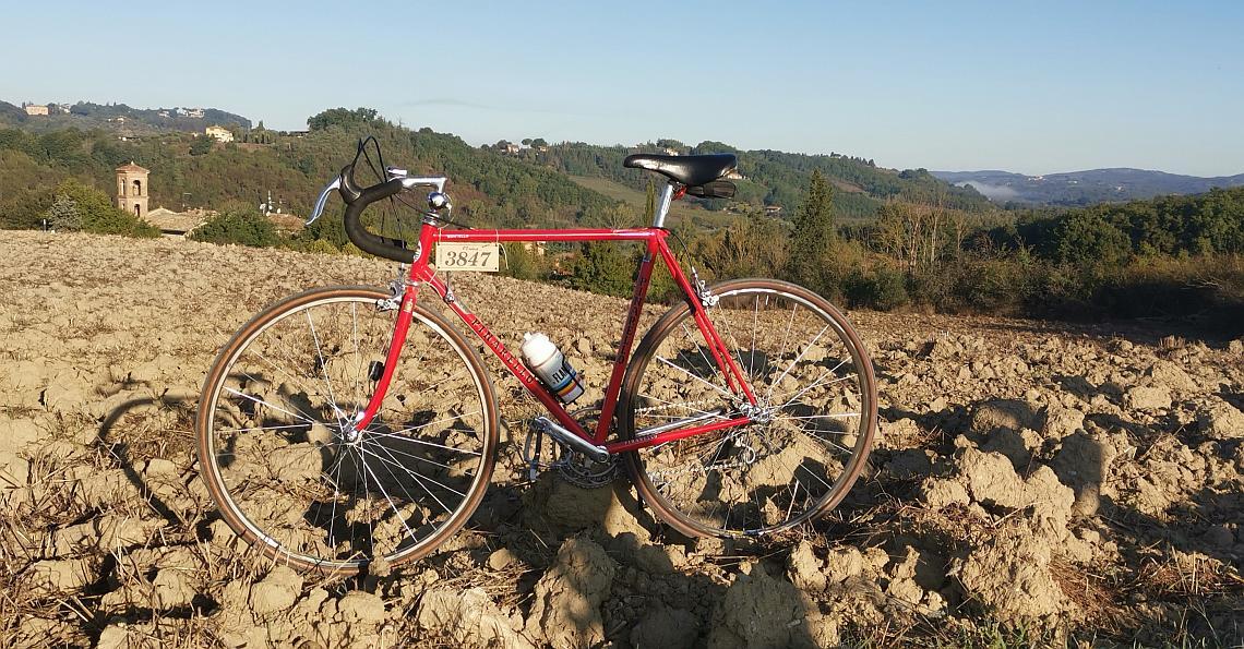 1985 Pinarello Motello auf der Eroica 2019 - Diamantrad-Blog