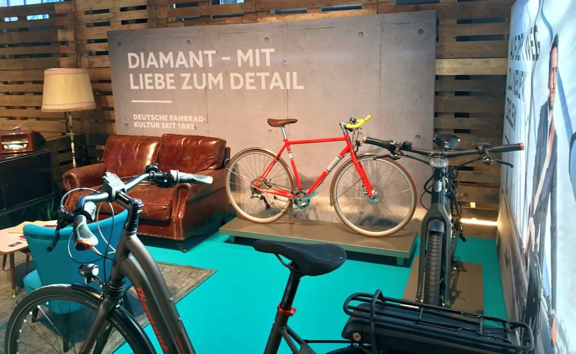 Diamant-Stand auf dem Urban Bike Festival 2017 - Diamantrad-Blog