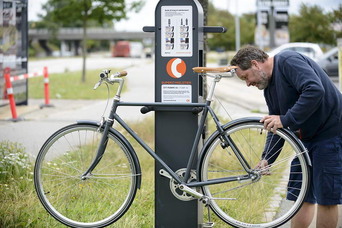 Fahrradstation mit Luftpumpe - Diamantrad-Blog