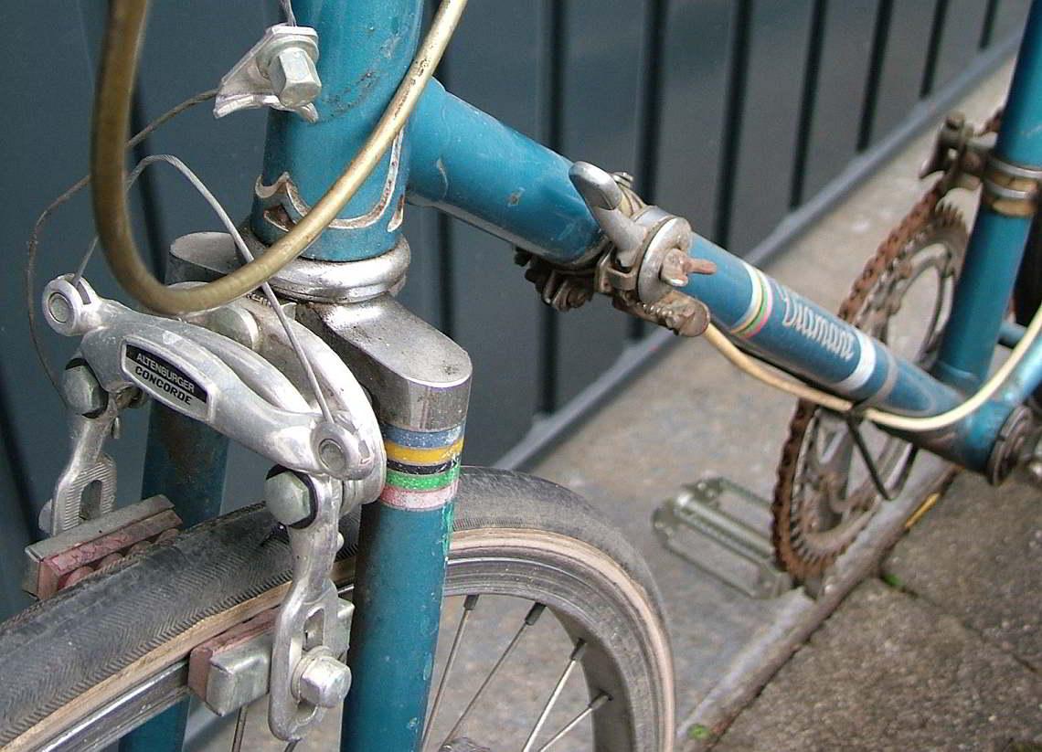 Alte Fahrrad-Bremsbeläge - Diamant-Blog