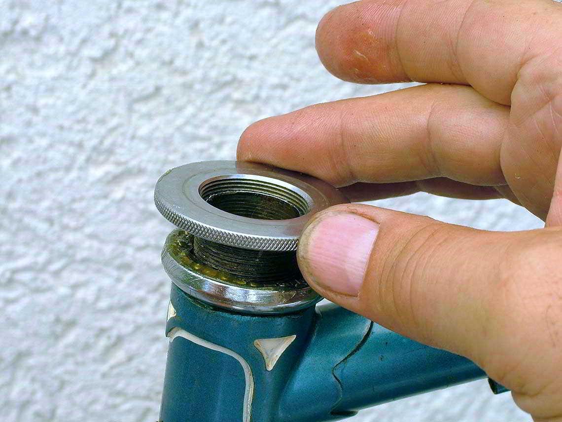 Lagerring auf dem Lenkkopf des Diamant-Fahrrads