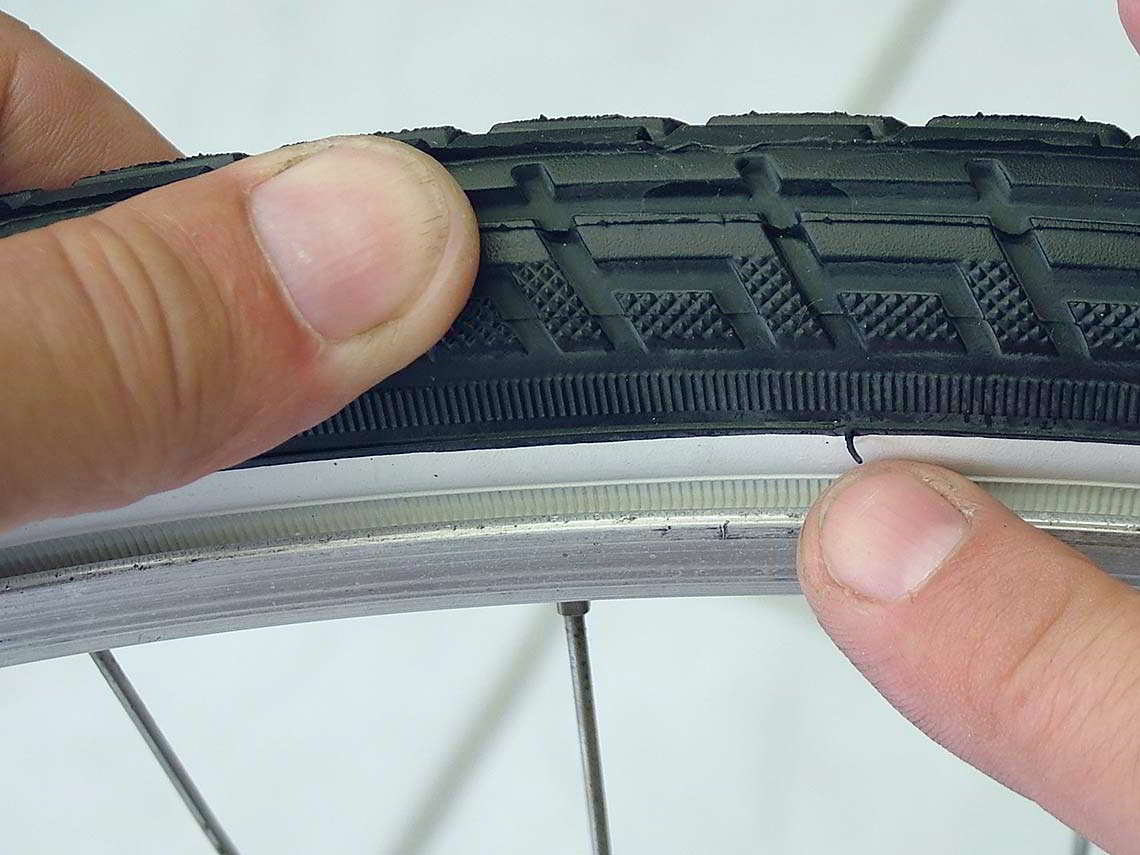 Mantel über die Fahrradfelge ziehen - Diamant-Blog