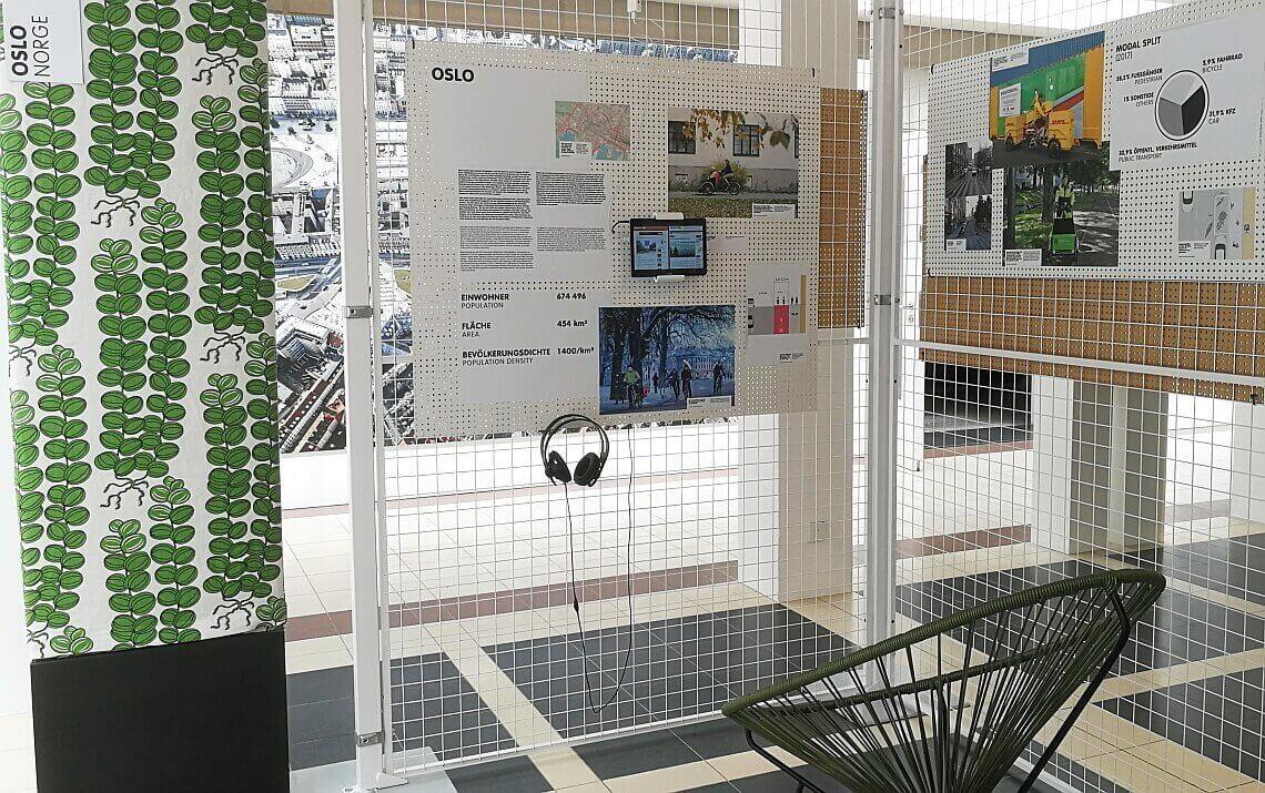 Infotafeln der Fahrradstadt Oslo im Deutschen Architekturmuseum Frankfurt - Diamant-Blog