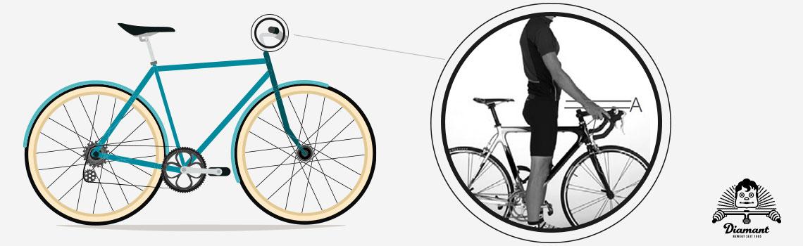 Abstand vom Schritt zum Fahrrad-Oberrohr. Diamant-Blog
