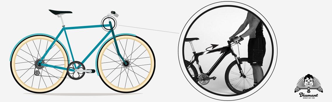 Fahrradlenker am Vorderreifen ausrichten - Diamant-Blog