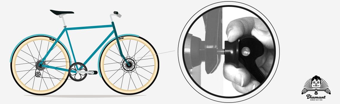 Druckscheibe und Hebel bei Clix-Schnellspanner - Diamantrad-Blog