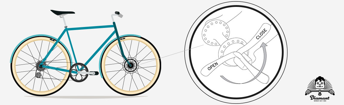 Schematische Darstellung Fahrrad-Schnellspanner - Diamantrad-Blog