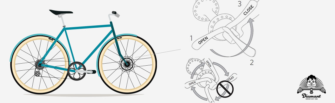 Korrekte Handhabung Hebel und Hebelpositionen eines Clix-Schnellspanners - Diamantrad-Blog