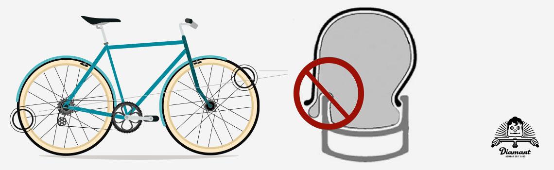 Schlauch zwischen Reifen und Felge eingeklemmt - Diamantrad-Blog