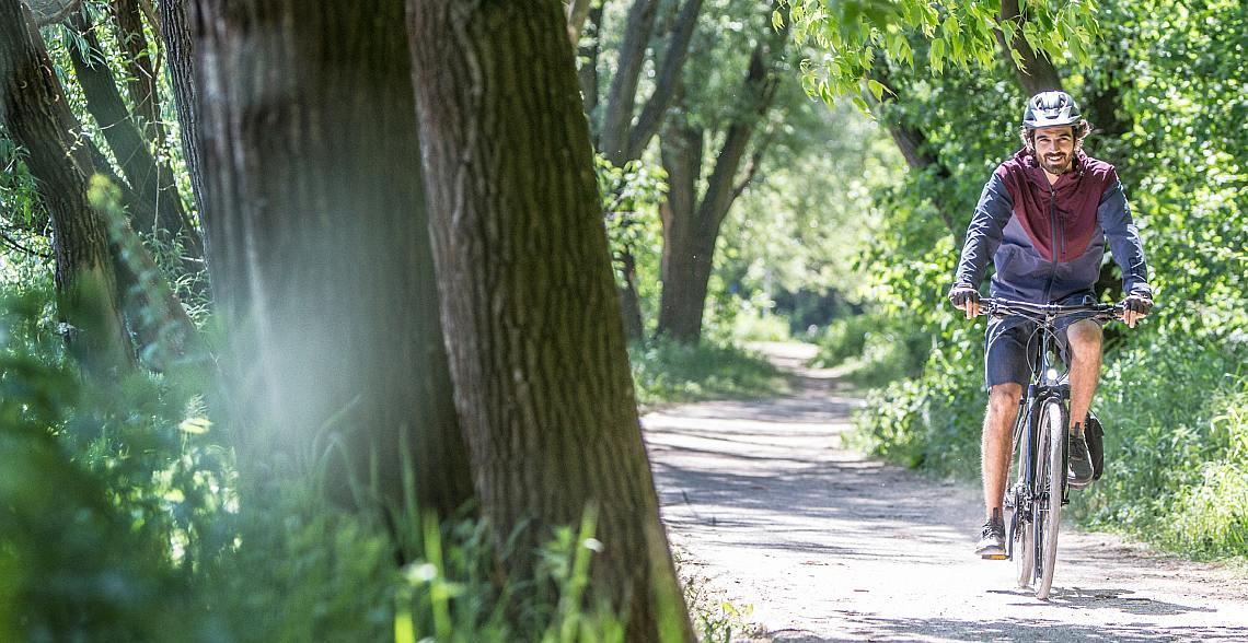 Mann im Grünen auf Diamant-Fahrrad - Diamantrad-Blog