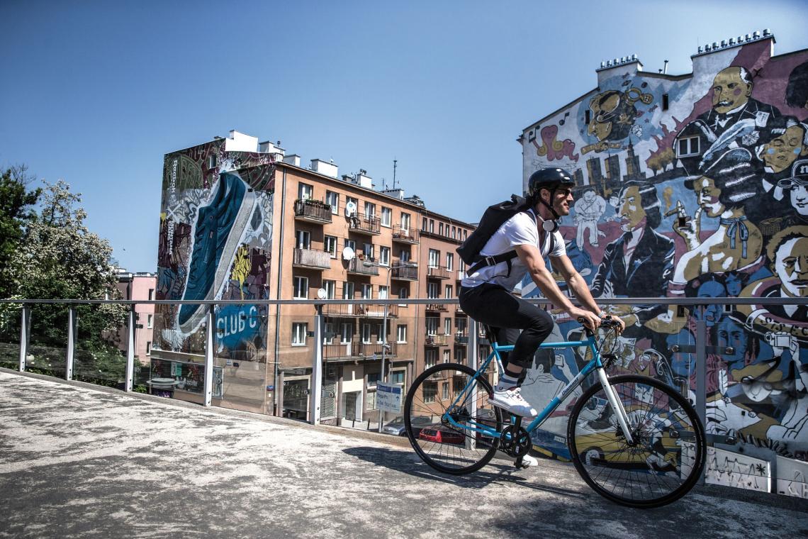 Fahrradfahrer in der Stadt - Diamant-Blog