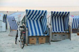 Auszeit nach der Fahrradtour im Strandkorb.© NOUN - Diamantrad-Blog