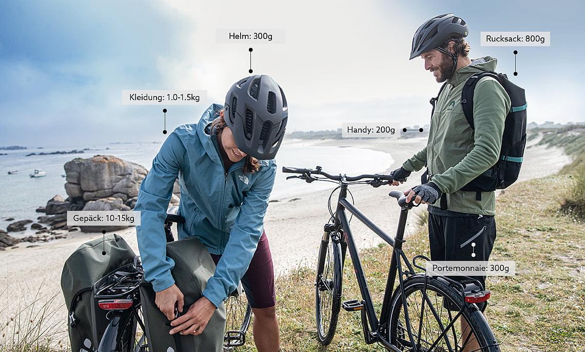 Zusätzliches Fahrradgewicht durch Accessoires - Diamantrad-Blog