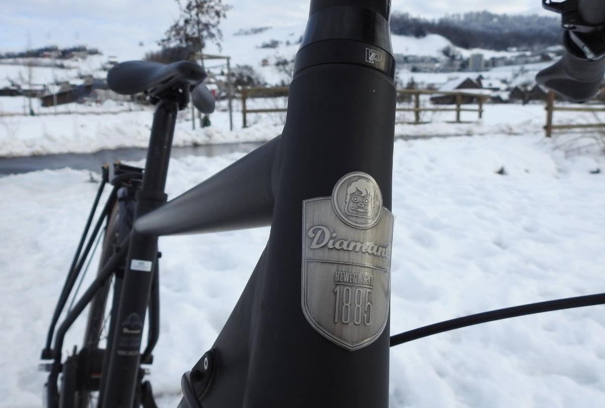 Diamant 885 im Schnee - Diamantrad-Blog