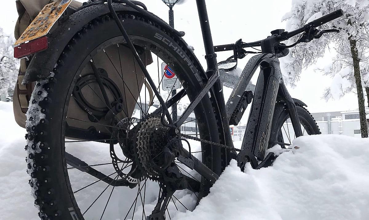 Diamant-Fahrrad im Schnee - Diamantrad-Blog