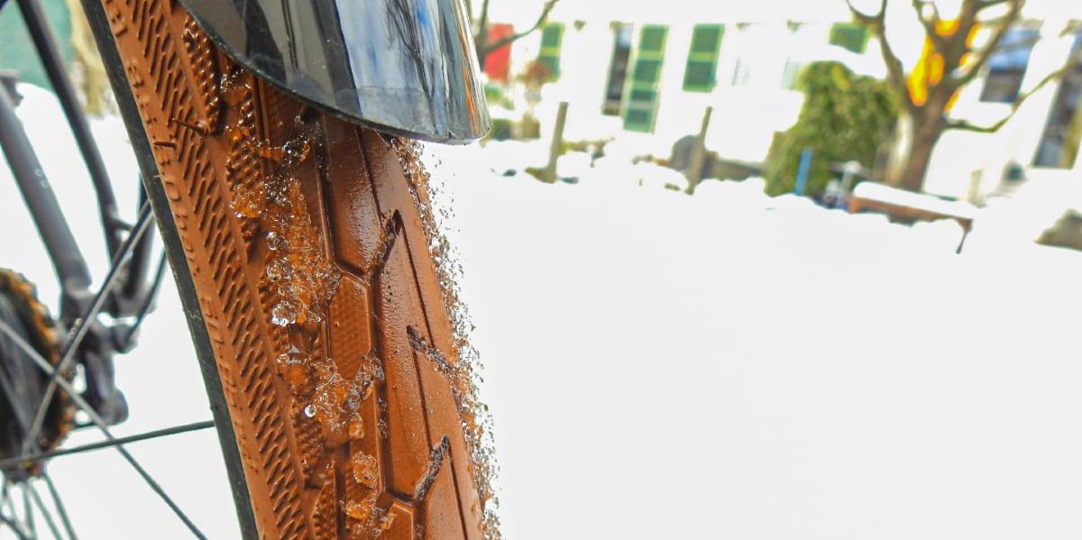 Fahrradreifen im Schnee - Diamantrad-Blog